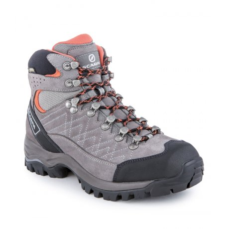 Kailash GTX Wmn, Midgray - Mandarin red, 38